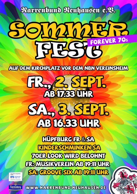 Narrenbund Neuhausen Sommerfest 2016-06 Flyer A6
